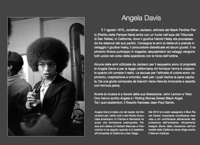 Angela Davis, attivista per i diritti degli afro-americani rischiava la pena di morte (1972)