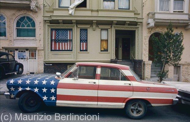 Car Flag, Union Street, San Francisco (California), 1972
